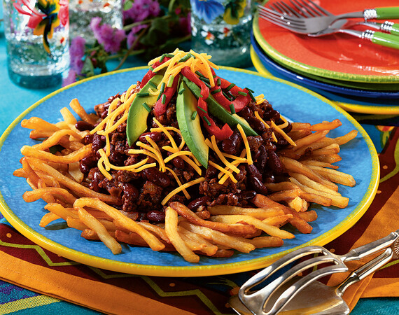 Chili-Topped Fried Idaho® Potatoes