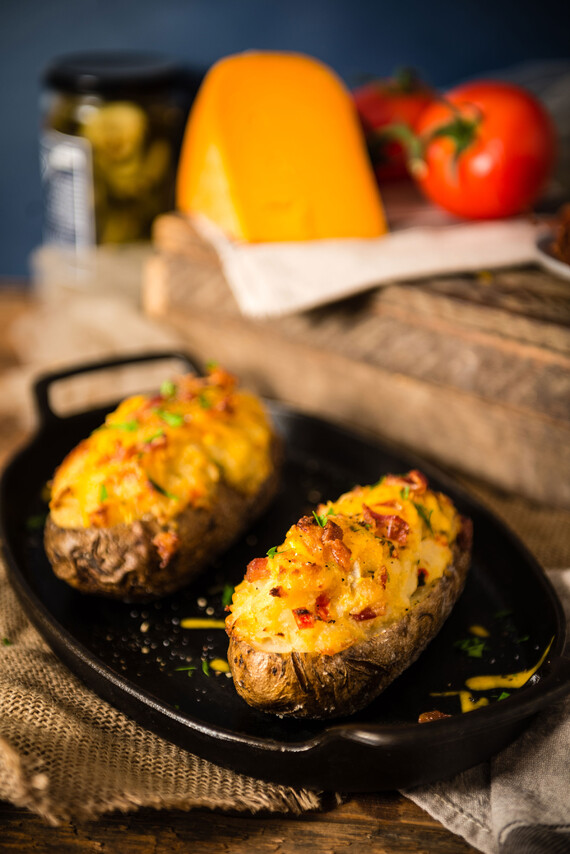 Twice Baked Potatoes with Bacon