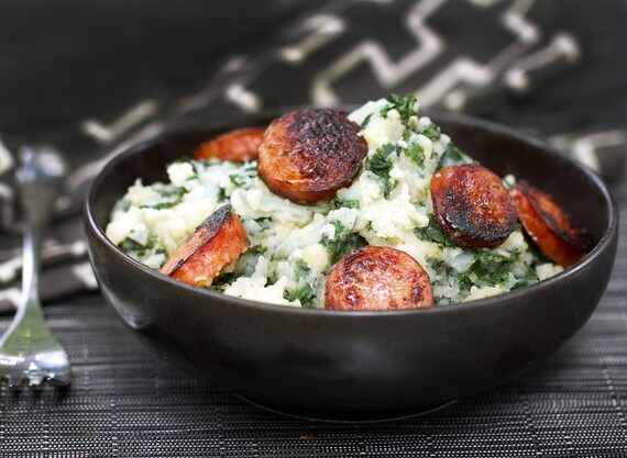 Dutch Stamppot: Idaho® Potato-Kale Mash with Sausage