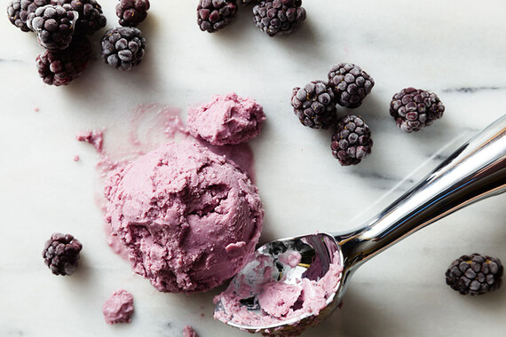 Vegan Coconut & Blackberry Idaho® Potato Ice Cream