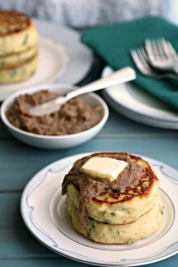 Savory Breakfast Idaho® Potato Cakes with Pecan Butter