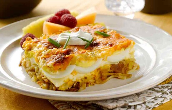 Layered Potato & Egg Bake