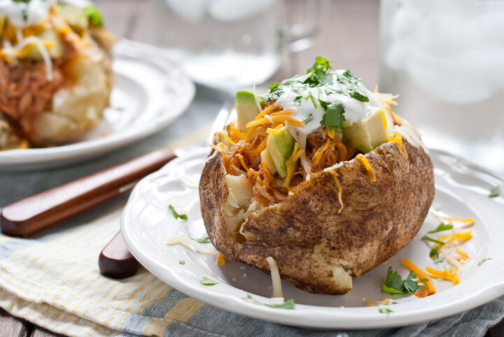 Chicken Enchilada Stuffed Baked Idaho® Potatoes