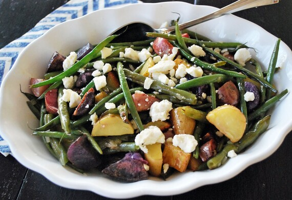 Roasted Fingerling, Green Bean & Feta Salad with Lemon Balsamic Vinaigrette