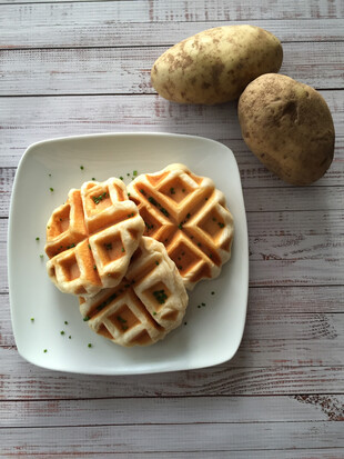 Vegan Savory Mashed Potato Waffles