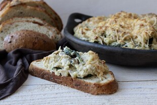 Artichoke Spinach Potato Dip