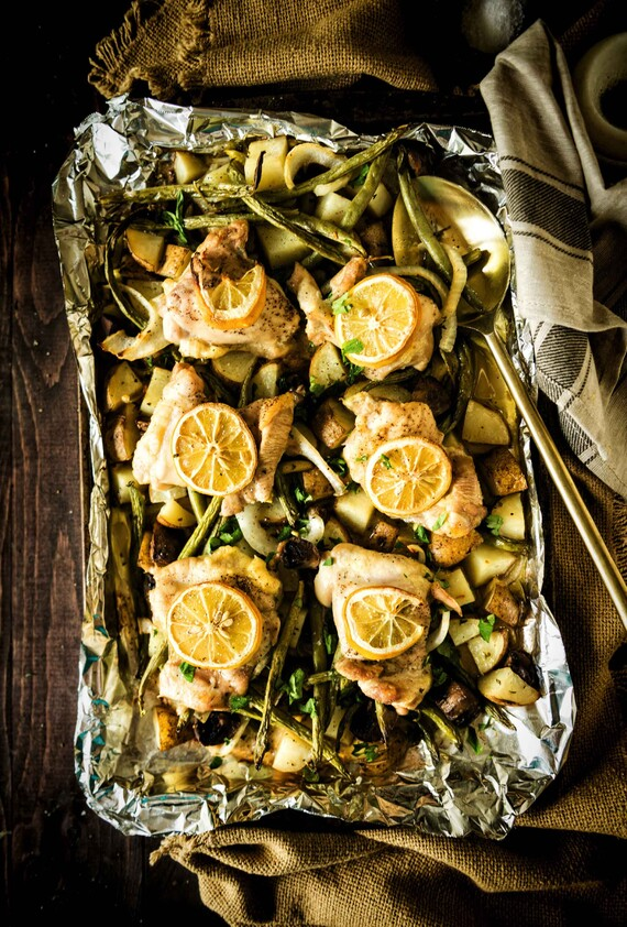 Sheet Pan Baked Chicken and Idaho® Potatoes