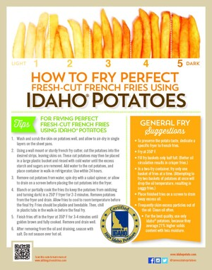 Want to Serve Perfect Fresh-Cut French Fries? Idaho Potato Commission Wall Chart Supplies the Answers