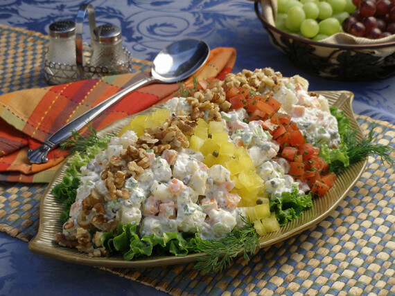Rainbow Russian Chopped Idaho® Potato Salad