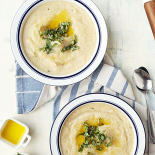 White-on-White Idaho® Potato-Cauliflower Soup