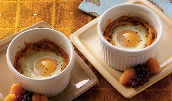 Mexican-Style Eggs-in-a-Nest