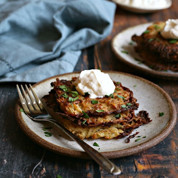 Potato, Onion and Cauliflower Latkes
