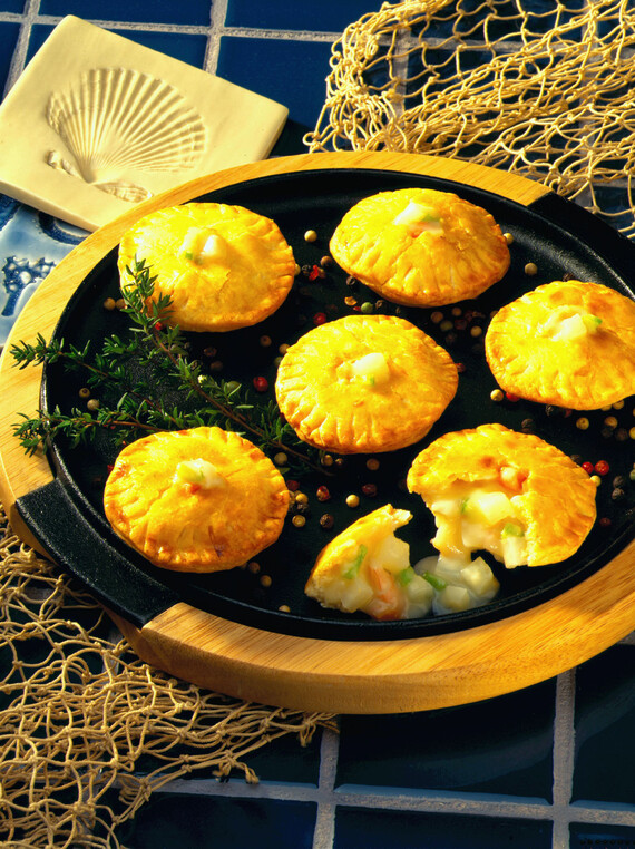 Miniature Potato and Smoked Shrimp Pot Pies