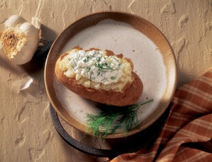 Baked Potato with Herbed Cottage Cheese
