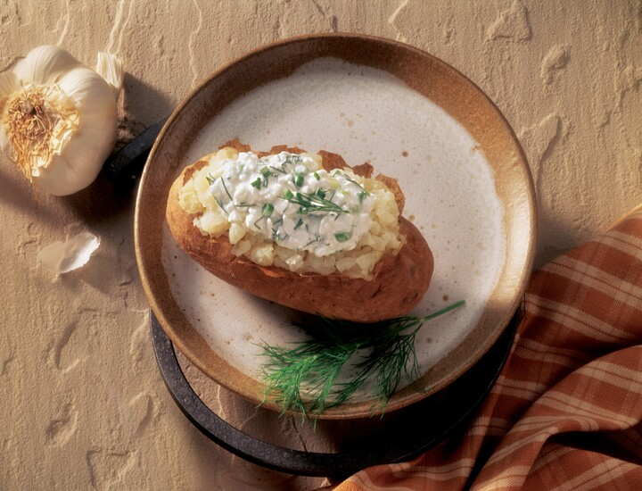 Fantastic Baked Potato With Herbed Cottage Cheese Interior Design Ideas Gentotryabchikinfo