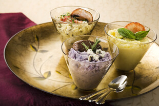 Trio of Mashed Idaho® Potatoes