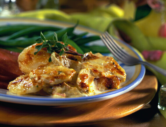 Gruyere, Apple and Idaho® Potato Au Gratin
