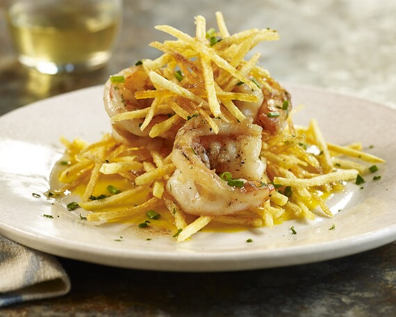 Shrimp Haystacks