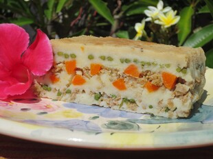 Idaho® Potato, Jarlsberg Lite and Roasted Vegetable Terrine