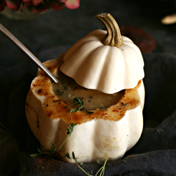 Idaho® Potato and Acorn Squash Soup