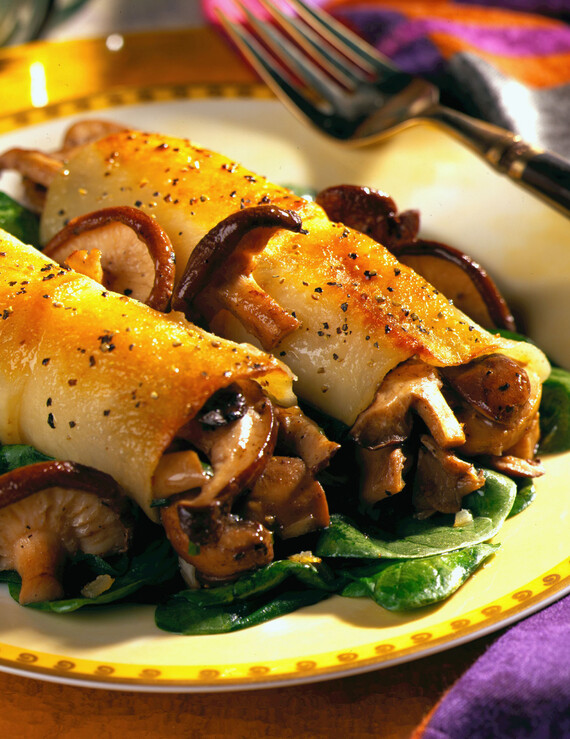 Cannelloni of Potato and Wild Mushrooms