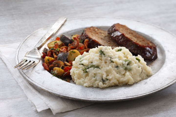 Brown Butter, Garlic & Spinach Mashed Potatoes