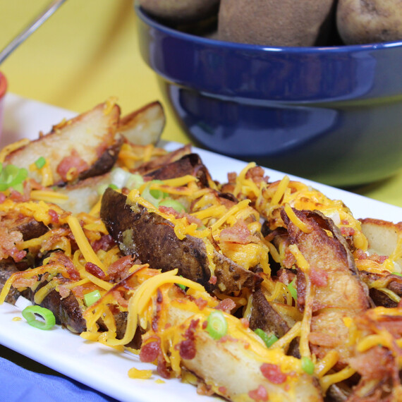 Loaded Baked Potato Wedges