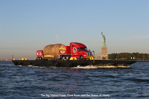 BIG IDAHO® POTATO TRUCK SETS SAIL IN NYC HARBOR