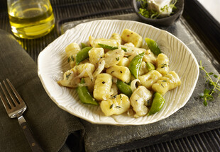 Potato Gnocchi with Geoduck, Sugar Snap Peas and Thyme