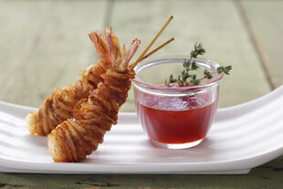 Russet-Wrapped Shrimp Pops
