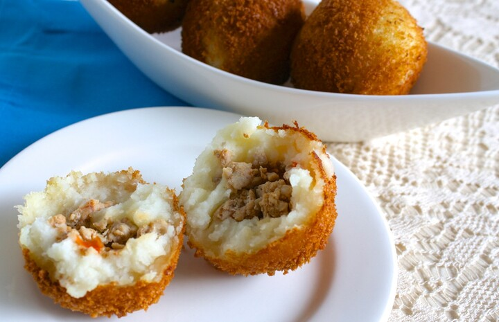 Idaho® Potato Chicken and Pork Filled Papas Rellenas