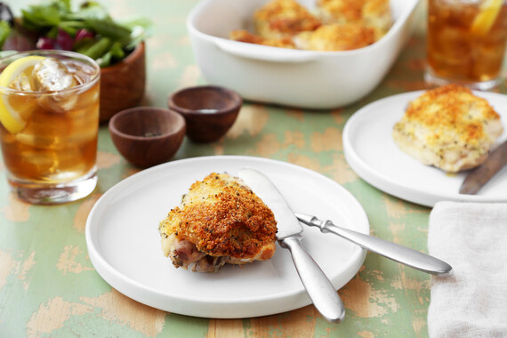 Chicken Thighs with Idahoan® Potato Parmesan Crust