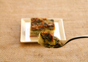 Spinach Gruyere Idaho® Potato Gratin