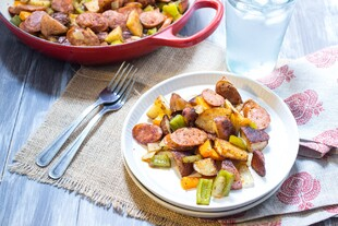 Cajun Potato and Andouille Sausage Bake