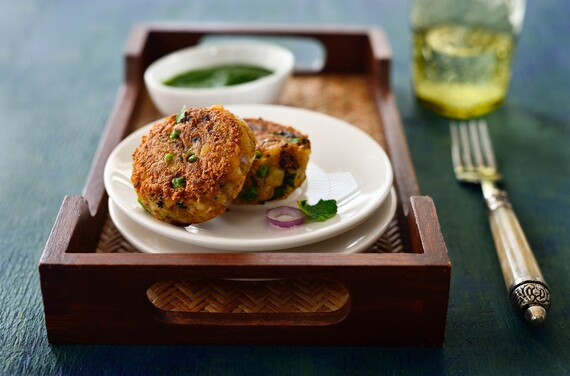 Potato Cakes with Mint Chutney