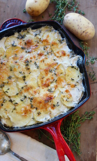 Gruyere Scalloped Idaho® Potatoes