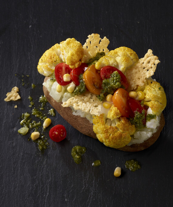 Roasted Cauliflower Chimichurri Idaho® Baked Potato
