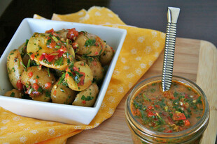 Idaho® Potato Red Chimichurri Potato Salad