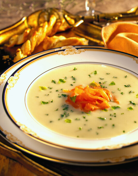 Vichyssoise with Smoked Salmon