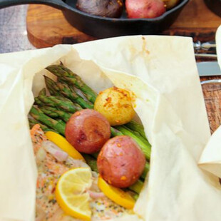 "Salmon and Idaho® Potato ""Hobos"" in Parchment"