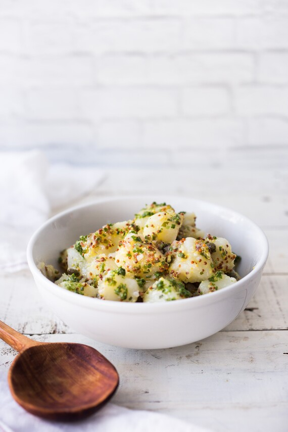 Potato Salad with Chives, Mustard and Capers