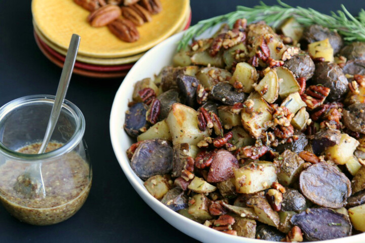 Oven Roasted Idaho® Potatoes with Herbed Pecans