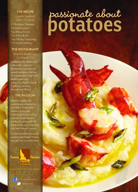 Lobster Mashed Idaho® Potatoes