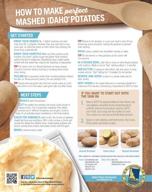 IDAHO POTATO COMMISSION OFFERS CULINARY TIPS FOR MAKING