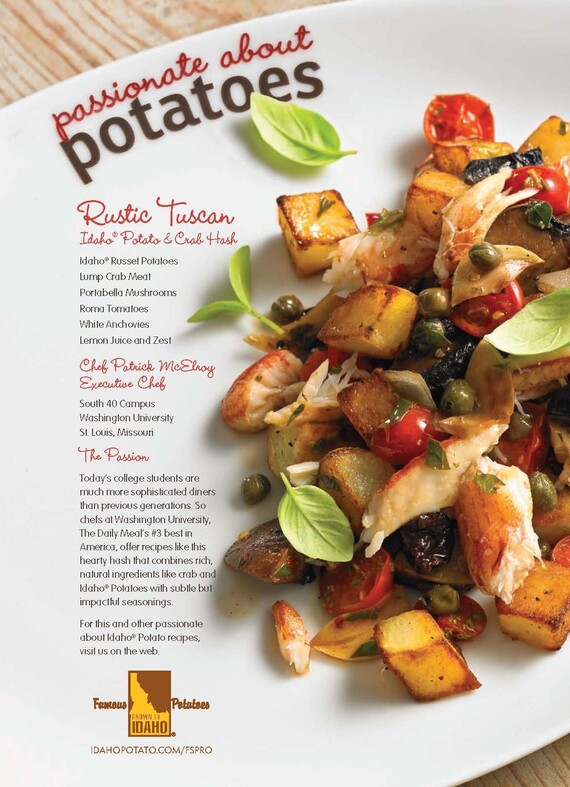 Rustic Tuscan Idaho® Potato and Crab Hash