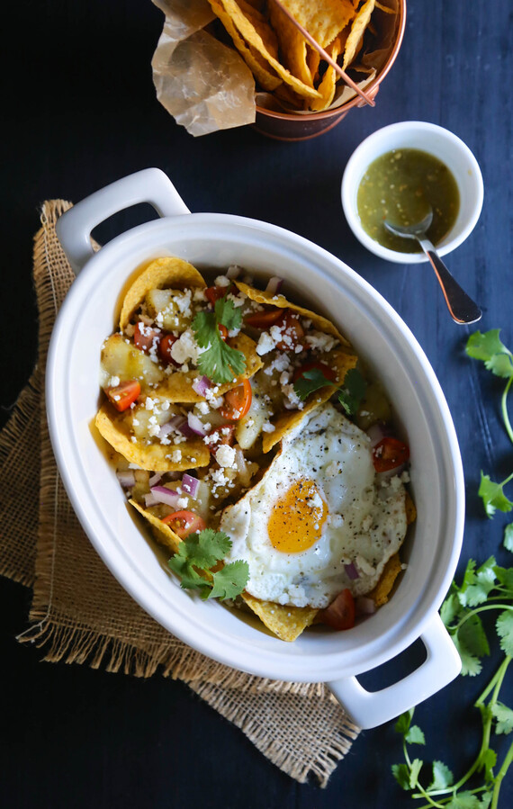 Easy Dutch Oven Idaho® Potato Chilaquiles Verdes