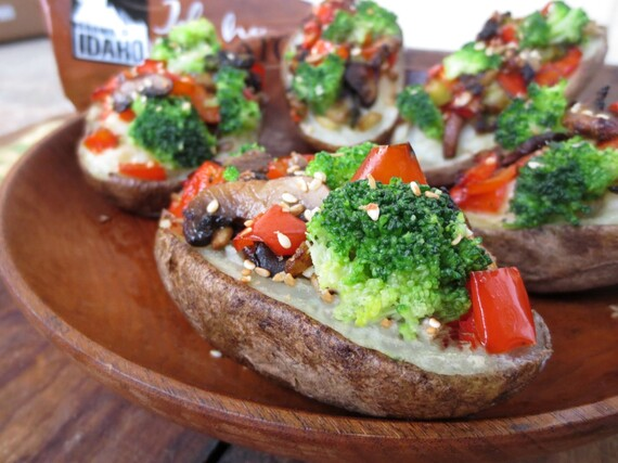 Garden Stuffed Potatoes