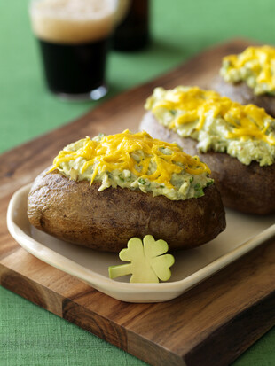 Lucky Irish Twice Baked Potatoes