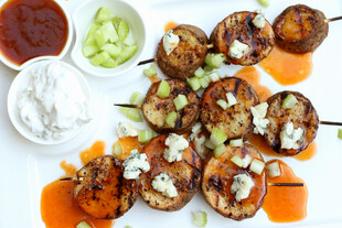 "Sticky ""Blue Forty-Two"" Idaho® Potato Kabobs"