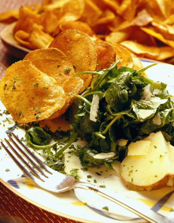 Arugula Salad with Crisp Idaho® Potatoes